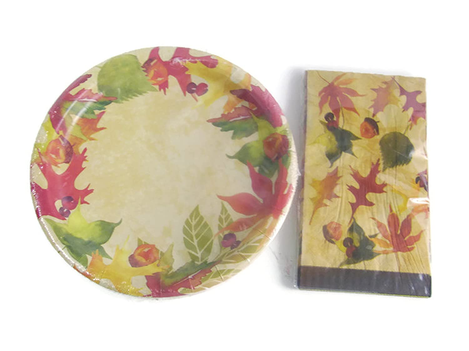 Fall Leaves Paper Plates And Napkin Sets  sc 1 st  Castrophotos & Autumn Paper Plates - Castrophotos