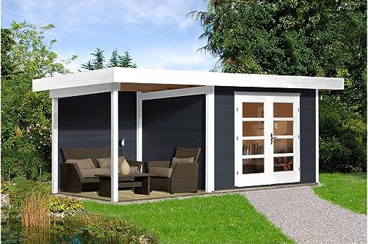 Weka Juego: Jardín Casa de chill out Talla 1, BXT: 530 x 210 cm, con Cultivo (235 cm ancho) Antracita/Blanco Antracita, Color blanco: Amazon.es: Jardín