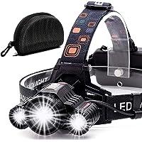 Cobiz Headlamp Flashlight USB Rechargeable -LED Ultra-bright High 6000 Lumen Work Headlight,IPX4 Waterproof & 18650…