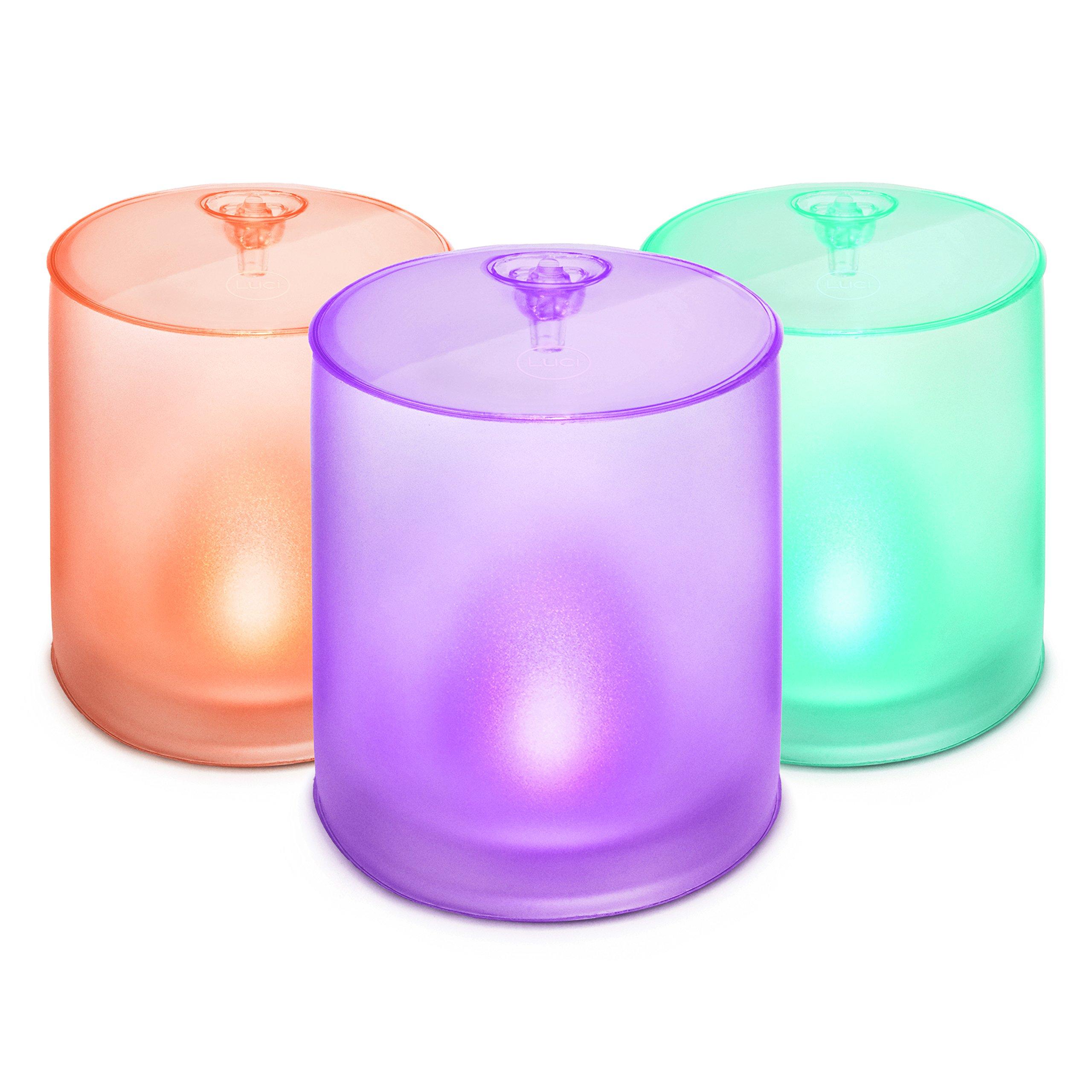 MPOWERD Luci Essence Mini Trio - Multi-Color Solar Inflatable Light (3-Pack)