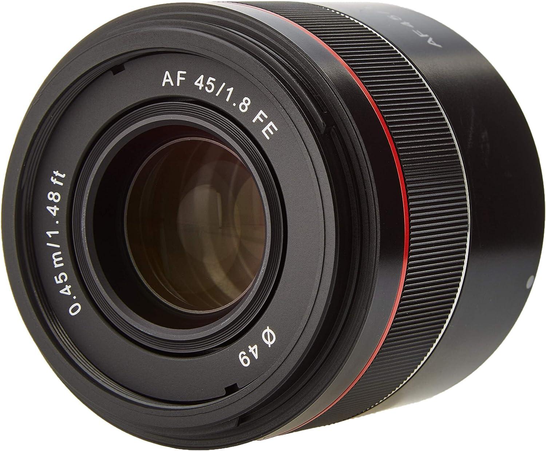 Samyang AF 45 MM F1.8 FE Sony E - Objetivo de Formato Completo para cámaras Sony Alpha sin Espejo (Montura FE y E, Formato Completo, Sensor APS-C, ...