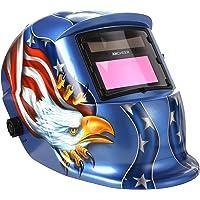 Coocheer Auto Darkening Welding Helmet With Solar Powered Adjustable MIG TIG ARC Professional Welding Mask (American Eagle)