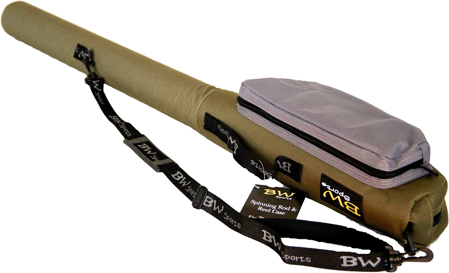 BW Sports Spinning Rod and Reel Case for 7 ft 2-Piece Spinning or Baitcasting Rods – RC-5060