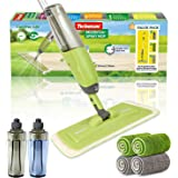 MistDriver Floor Cleaning Spray Mop with 4 Extra Large Microfiber Pads and 2 High Capacity Bottles, Home or Commercial…