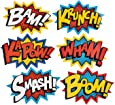 "Cardboard Jumbo Superhero Word Cutouts (size: 26"" x 18"") - 6 pcs by Party Supplies (1 Pack)"