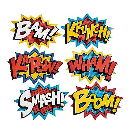Amazon Cardboard Jumbo Superhero Word Cutouts Size 26 X 18