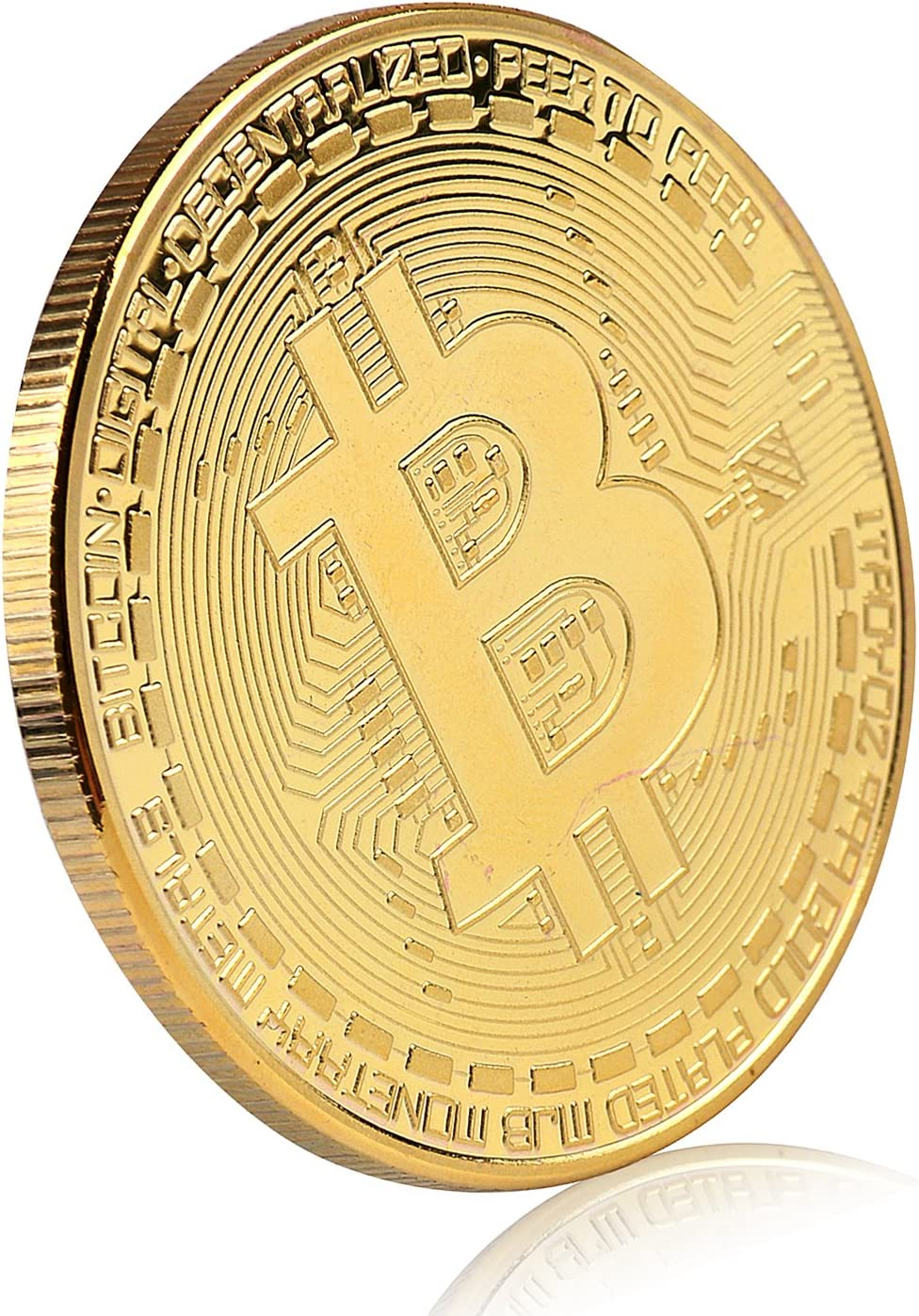 Amazon Com Bitcoin Commemorative Coin 24k Gold Plated Btc Limited Edition Collectible Coin With Protective Case Toys Games