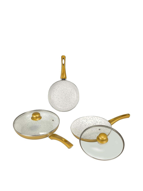 Compra NEWCHEF Set Sartén 3 Uds. Golden NL6425 en Amazon.es