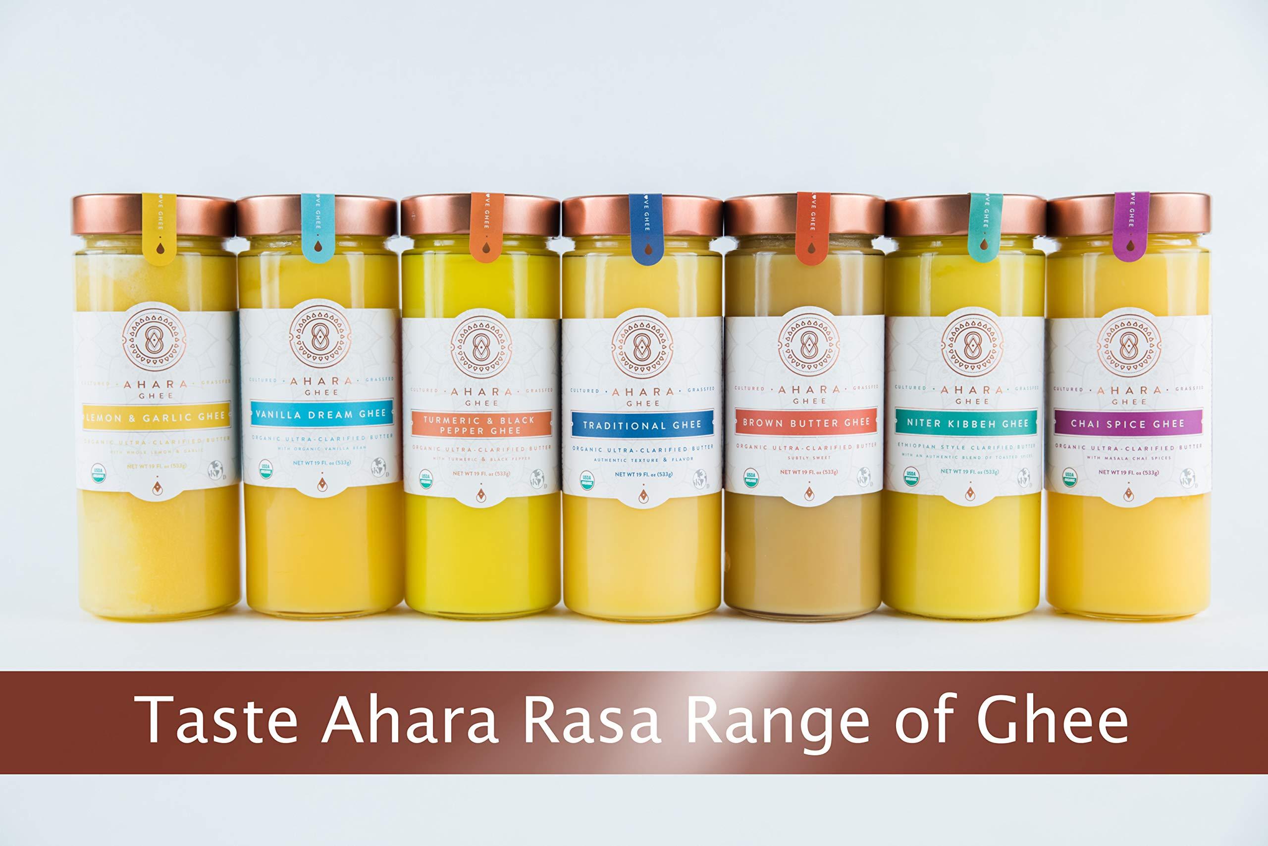 Ahara Rasa Lemon Garlic Organic Ghee 19oz, 100% Organic. Lactose & Casein Free USDA & Kosher Certified. No Salt, No GMOs. Made in USA by Ahara (Image #4)
