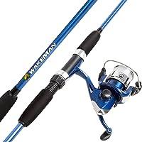 Wakeman 80-FSH2004 Spinning Rod and Reel Combo Swarm Series, Blue Metallic