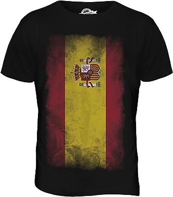 De la bandera de España de la bandera de Faded - para hombre T-de manga corta de mujer de costura para camisetas de: Amazon.es: Ropa y accesorios