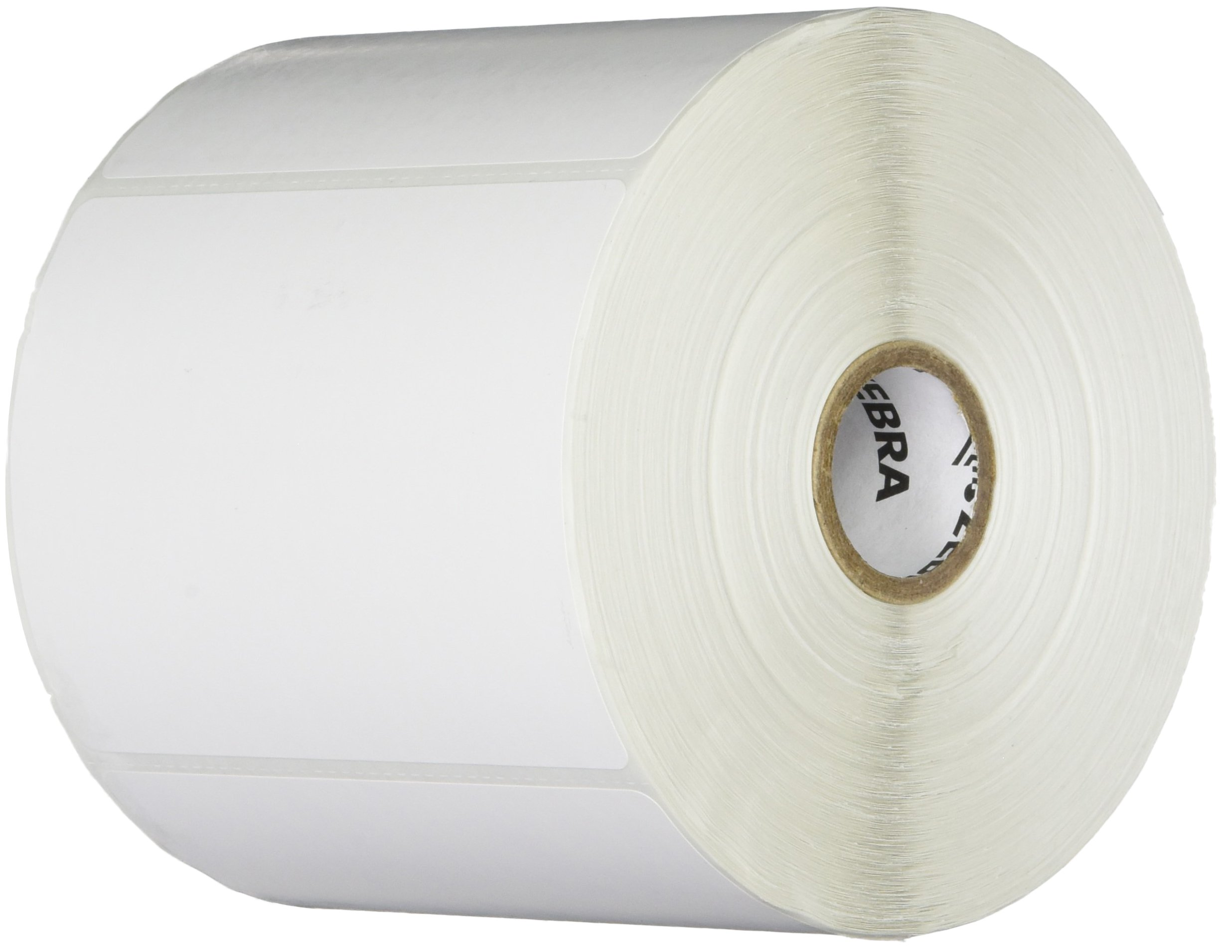 Zebra Technologies 10005852 Z-Perform 2000T Paper Label, Thermal Transfer, Perforated, 4'' x 3'', 1'' Core, 5'' Od, 890 Labels per Roll (Pack of 6)