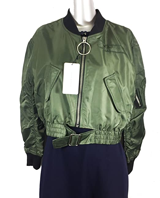 Zara recortada de la mujer Bomber chaqueta 5071/242: Amazon ...
