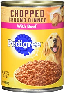 Amazoncom Pedigree Meaty Ground Dinner Puppy Complete Lamb And