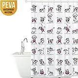 Tatkraft Funny Cats Cortina Baño Peva 180X180 cm Impermeable Resistente al Moho con 12 Anillos