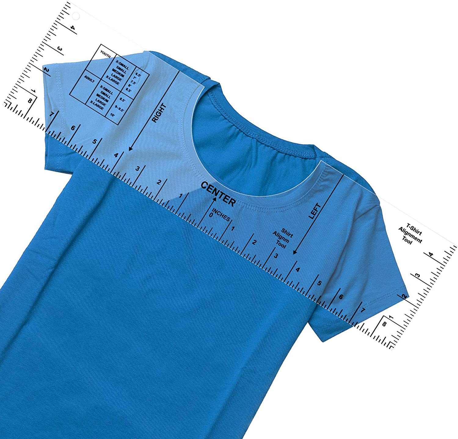 16x5inch HTV Heat Press Alignment T-Shirt Ruler Guide for Placement,T Shirt Alignment Tool,T Shirt Rulers to Center,Sublimation Designs on T-Shirt-Centering Tool