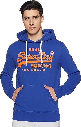 Superdry Vintage Logo Hood Pull Homme: Amazon.