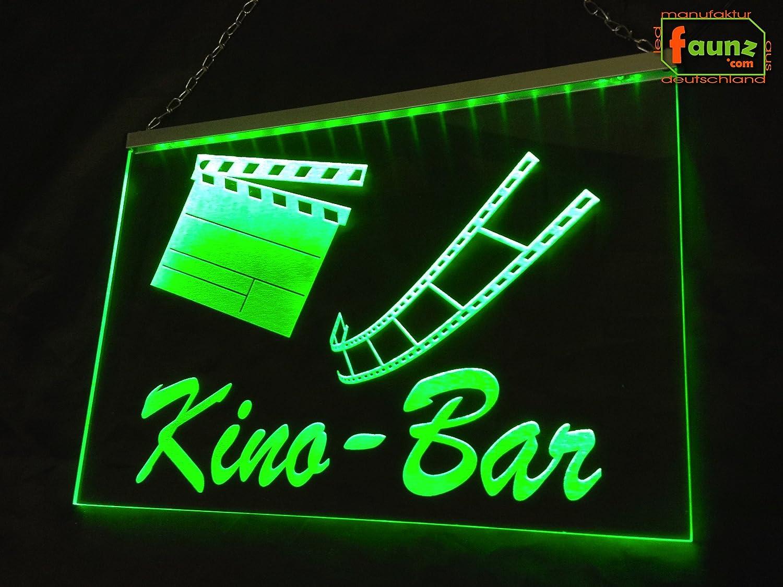 LED Cartel de cine Bar Verde Opaco sobre Transparente o su ...