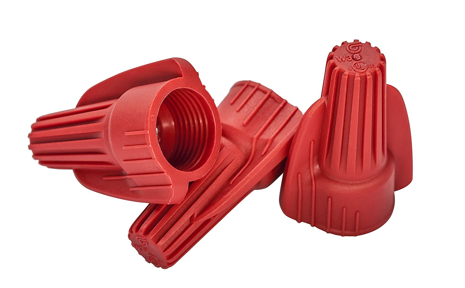Cambridge Screw On Wire Connectors Red 100 Pieces per Box Contains 2 Boxes 200 Pieces Total