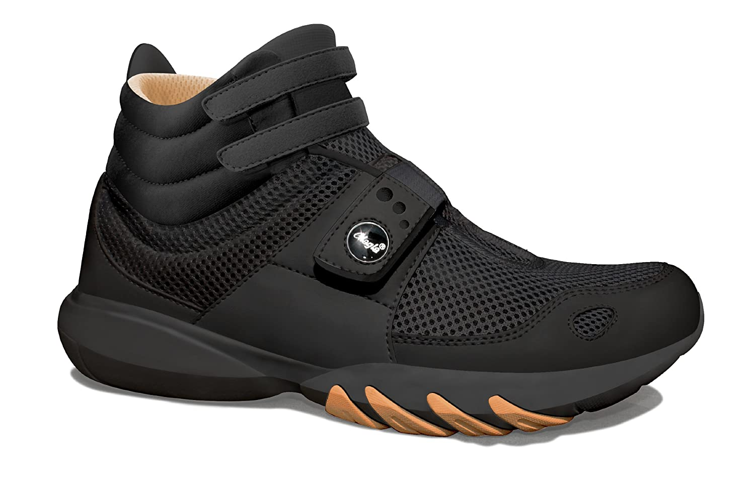 Glagla Womens Classic Hi Black / Gold Synthetic Athletic Shoes