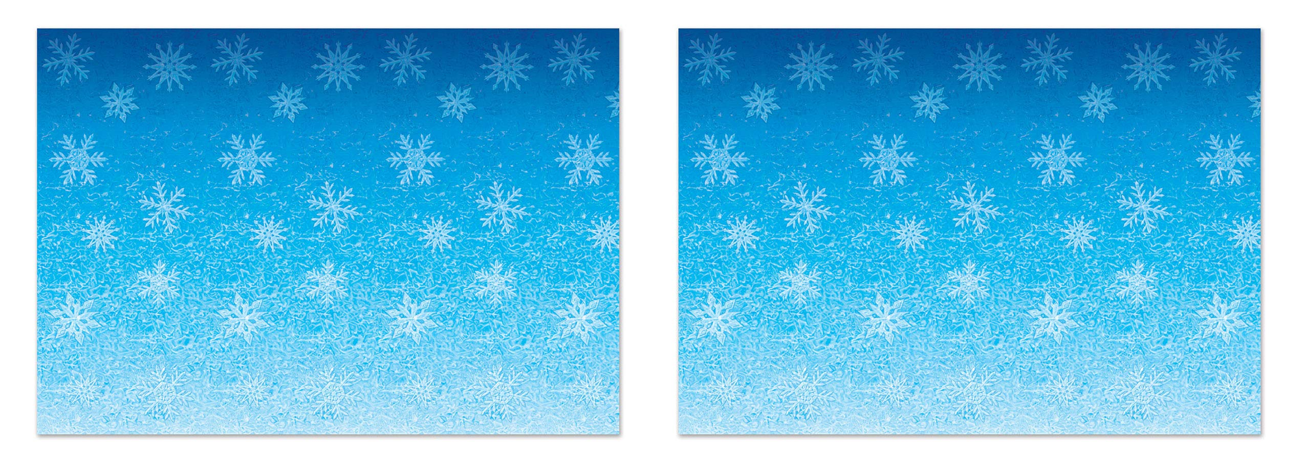 Beistle S20207AZ2 Snowflakes Backdrops 2 Piece, 4' x 30' Light Blue/White