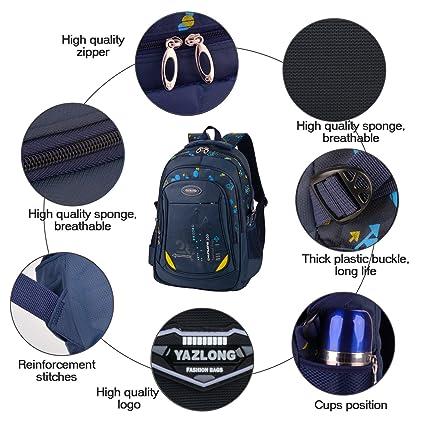 Amazon.com   Bageek School Bag for Boys Bookbag Multi-pockets School Backpack Casual Backpack   Kids Backpacks