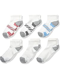 Hanes Boys ComfortBlend Athletic Ankle Socks 6-Pack