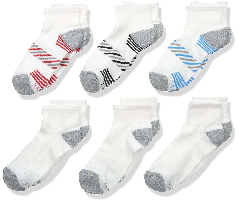 Hanes Boys' Big ComfortBlend Athletic Ankle Socks 6-Pack 336/6