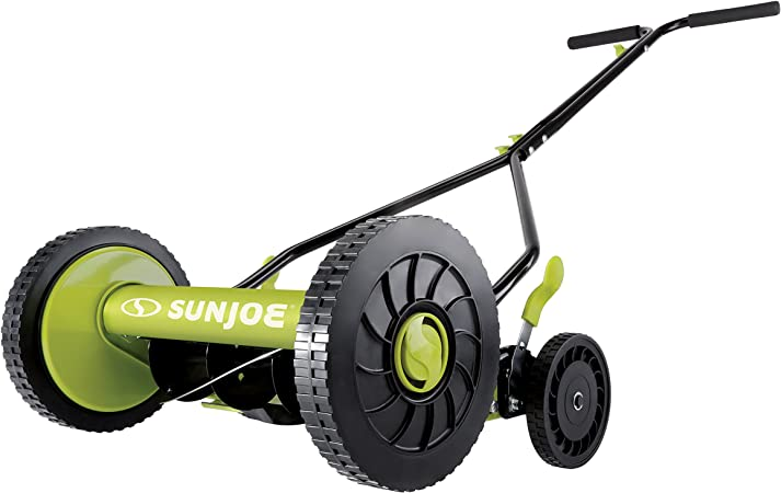 Sun Joe MJ503M 14-Inch Quad Wheel 9-Position Manual Reel Mower