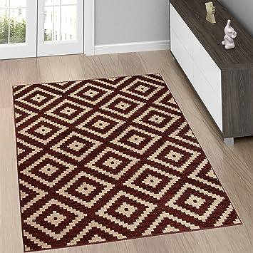 Marokkanisches Wohnzimmer | Amazon De Moderne Wohnzimmer Teppiche Teppich In Braun Mit Karo