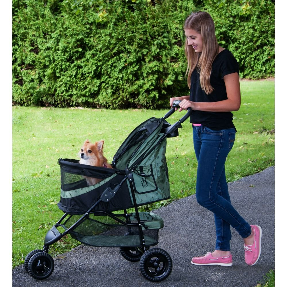 Pet Gear No-Zip Special Edition Pet Stroller, Zipperless Entry, Sage by Vermont Juvenile MFG DBA (Pet Gear) (Image #4)