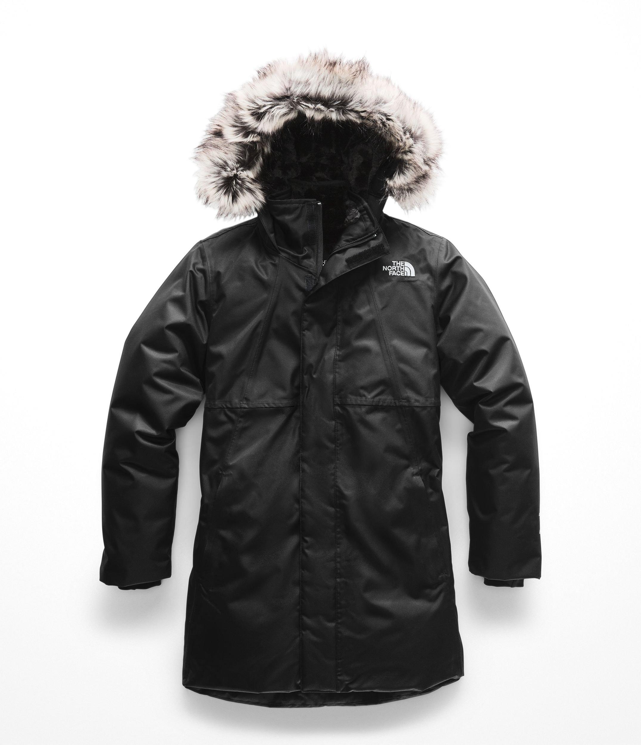 The North Face Girl's Arctic Swirl Down Jacket - TNF Black & TNF Black - M