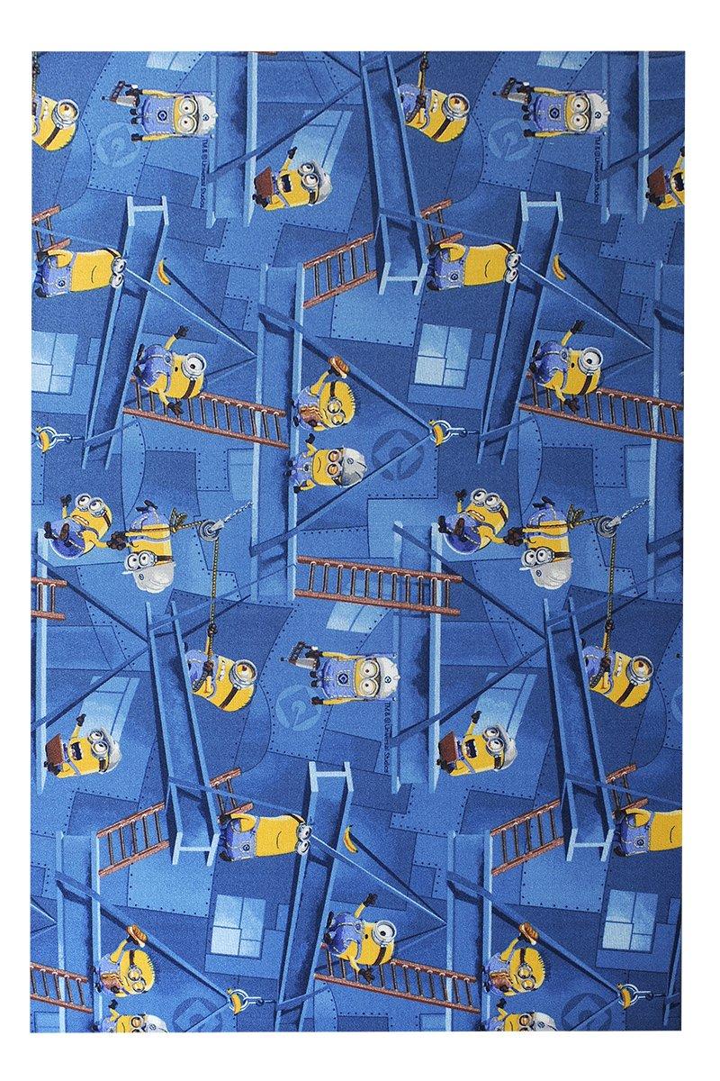 Havatex Kinderteppich Minions - Farbe wählbar  Blau, Türkis   Spielteppich schadstoffgeprüft pflegeleicht strapazierfähig Kinderzimmer Spielzimmer Kids Mädchen Jungen, Farbe Blau, Größe 120 x 170 cm
