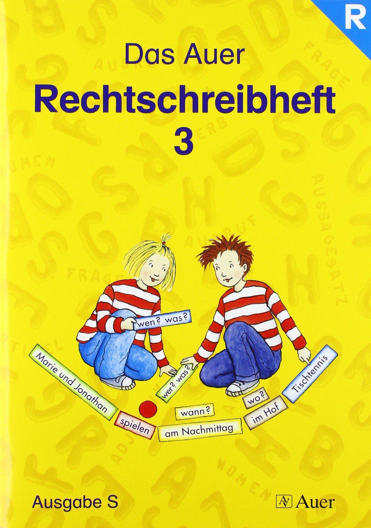 Das Auer Sprachbuch. Ausgabe für Baden-Württemberg / Rechtschreibheft 3. Schuljahr