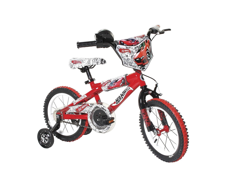 Dynacraft Boy's 14-Inch Hot Wheels Bike, Red/White/Black B005HDNL60