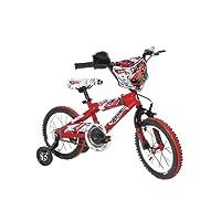 Dynacraft Boy 's 14-Inch Hot Wheels Bbicicleta de 35.6 cm, Rrojo/bBlanco/nNegro, para niños