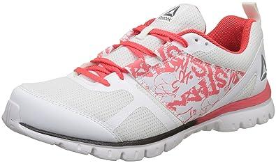 Reebok Women s Speed Xt 2.0 White Neon Cherry Running Shoes - 4 UK India f82e6b71b