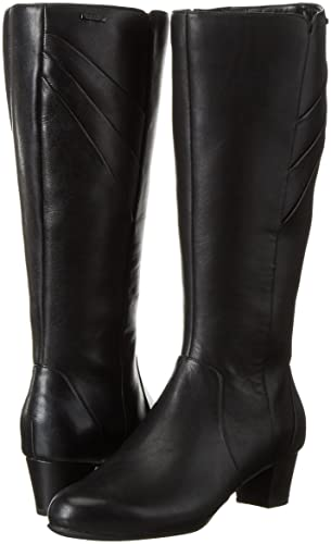 Womens Total Motion Charisse Cresenthia Pleated T-Boot Unlined Long-Shaft Boots Rockport P1HAcGco