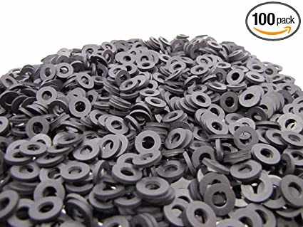 Amazon.com: (100) Rubber Washers | 1/2 OD X 1/4 ID X 1/16 Inch ...