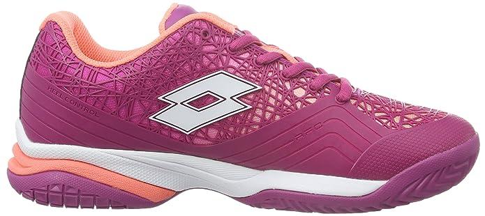 Lotto Viper Ultra II ALR W, Zapatillas de Tenis Mujer, Rosa/Blanco (Ros Neo/Wht), 39 EU