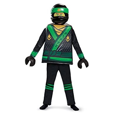 Disguise Lloyd Lego Ninjago Movie Deluxe Costume, Green, Large (10-12): Toys & Games