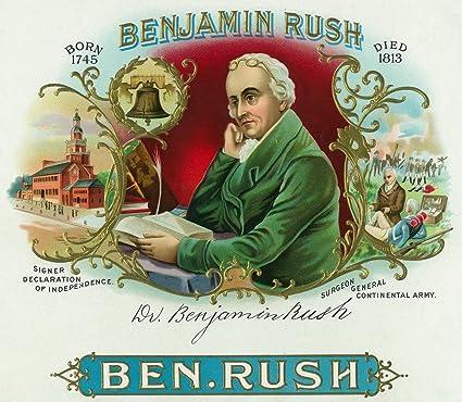Benjamin Rush Brand Cigar Box Label: Amazon.es: Electrónica