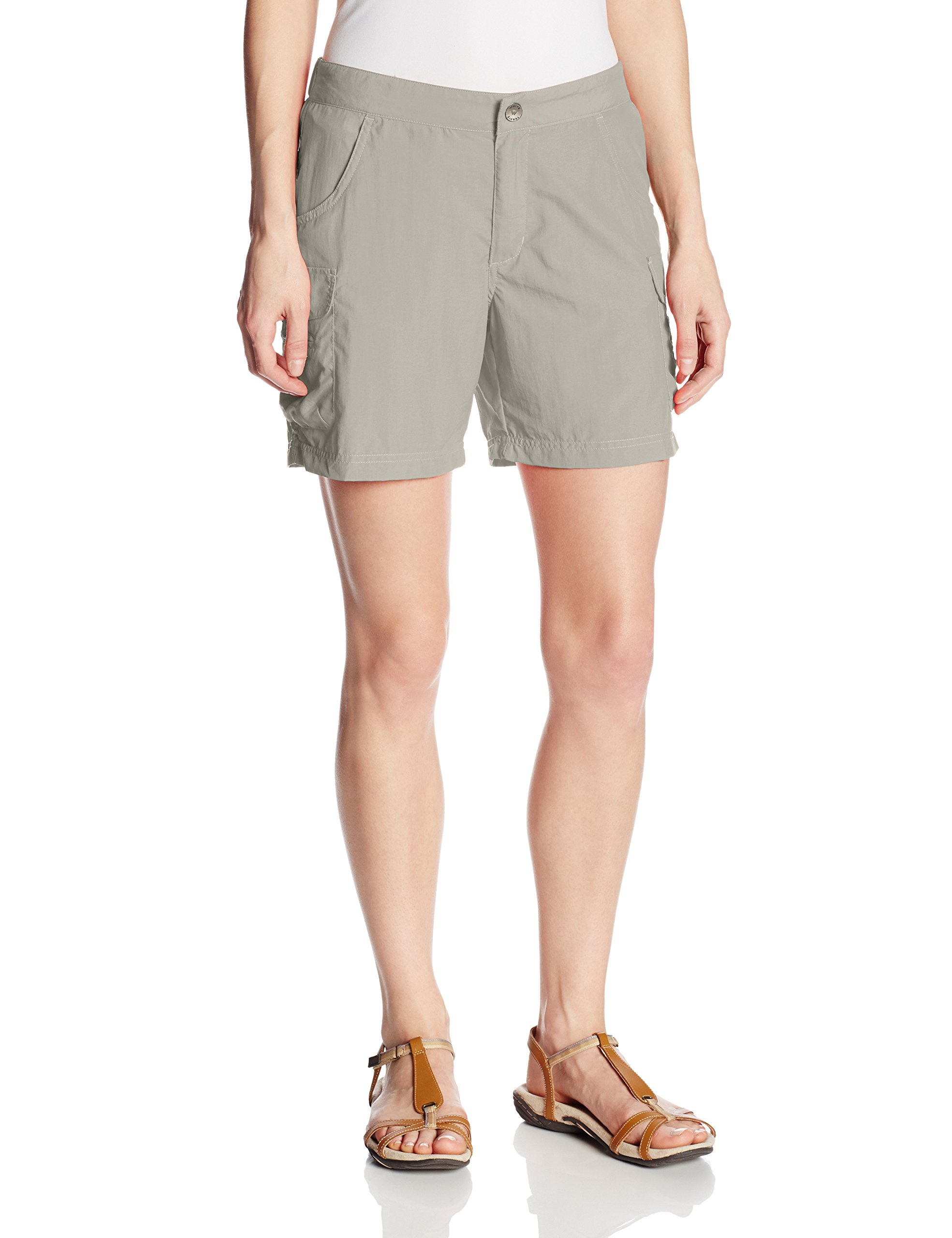 White Sierra Crystal Cove River Shorts, Pale Taupe, Small