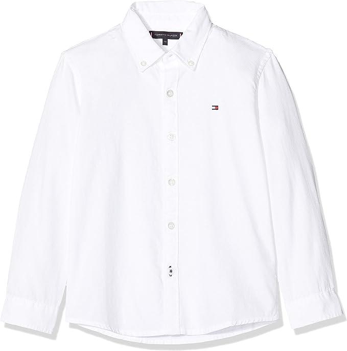 Tommy Hilfiger Overdye Dobby Shirt L/S Camisa para Niños: Amazon.es: Ropa y accesorios