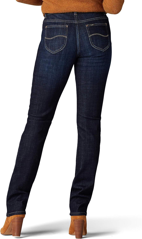 LEE Womens Petite Legendary Regular Fit Straight Leg Jean