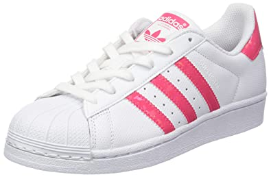 e9bb0493a520 adidas Youth Superstar White Real Pink Leather Trainers 5.5 US
