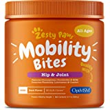 Zesty Paws Glucosamine for Dogs - Hip & Joint Health Soft Chews with Chondroitin & MSM - Functional Dog Supplement for Pet Mo