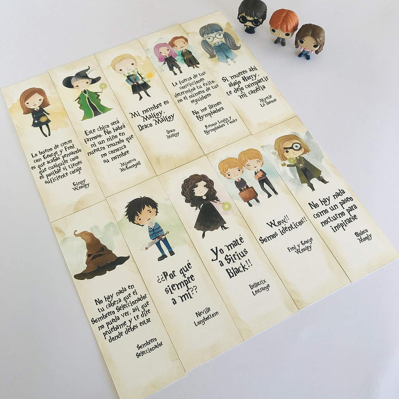 Pack nº 2 10 marcapáginas Harry Potter: Amazon.es: Handmade