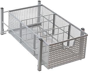 DecoBros Mesh Cabinet Basket Organizer, Silver