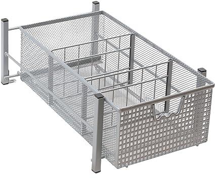 Ordinaire DecoBros Mesh Cabinet Basket Organizer, Silver
